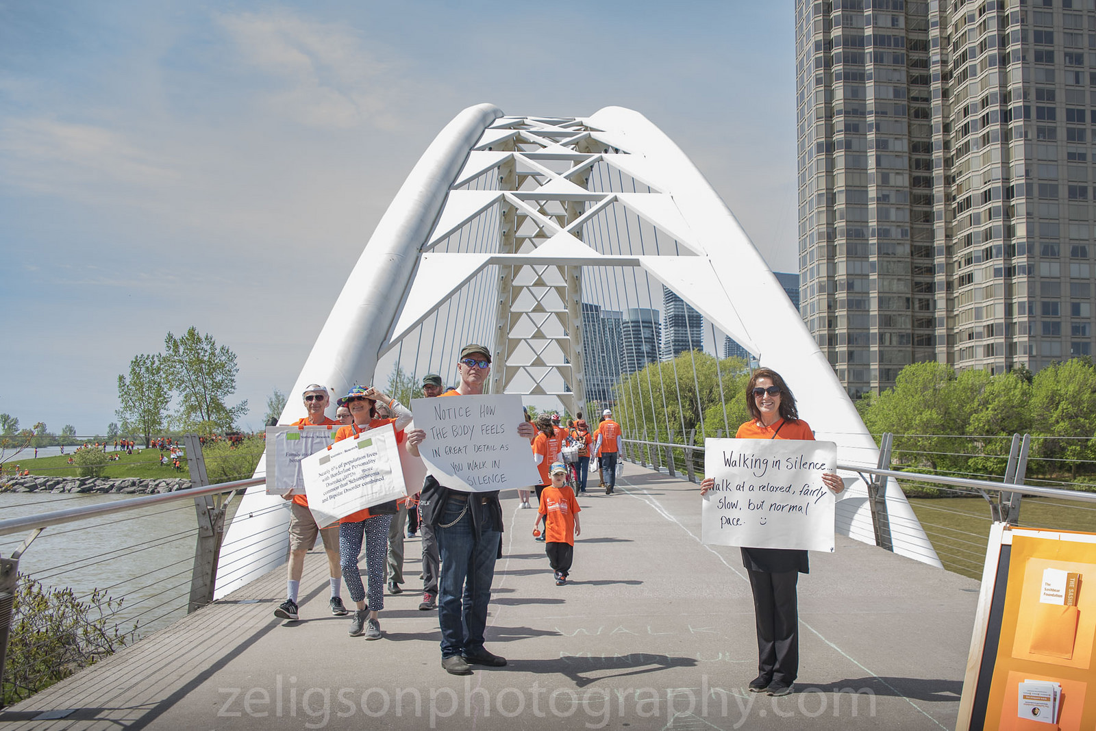 Mindfulness Walk over Humber Bay Bridge
